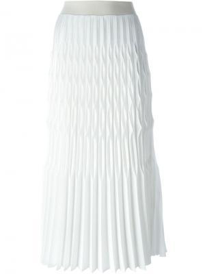 Плиссированная юбка Barbara Casasola. Цвет: белый