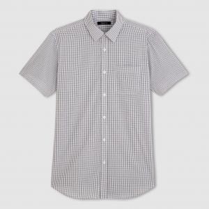 Рубашка из поплина с короткими рукавами, рост 3 CASTALUNA FOR MEN. Цвет: синий в полоску