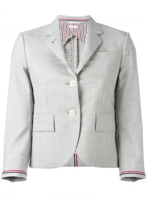 Two button blazer Thom Browne. Цвет: серый
