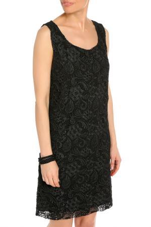 Свободное платье без рукавов Daniela Fargion. Цвет: черный