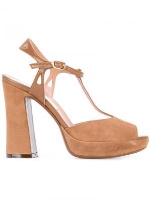 Босоножки на массивном каблуке LAutre Chose L'Autre. Цвет: коричневый
