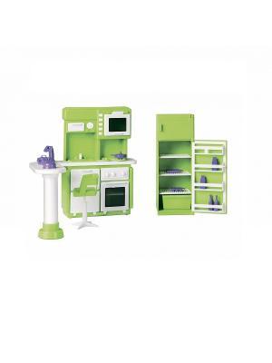 Набор мебели для кухни Конфетти Огонек. Цвет: зеленый, оранжевый