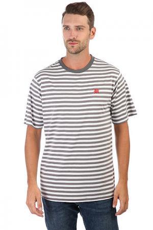 Футболка  Marina T-shirt Charcoal The Hundreds. Цвет: белый,серый