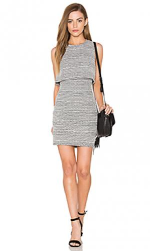 Вязаное платье с вырезом Eight Sixty. Цвет: black & white