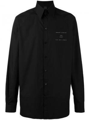 Рубашка с рукавами-реглан Odeur. Цвет: чёрный