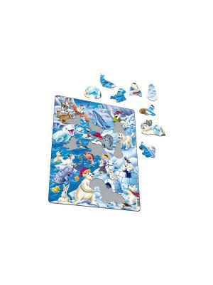 Пазл Арктика LARSEN AS. Цвет: белый, голубой, желтый, зеленый, оранжевый, синий