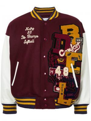 Куртка-бомбер с нашивками Doublet. Цвет: красный
