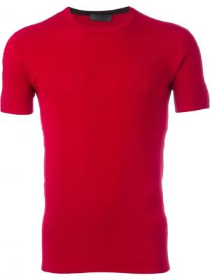Вязаная футболка Costume National. Цвет: красный