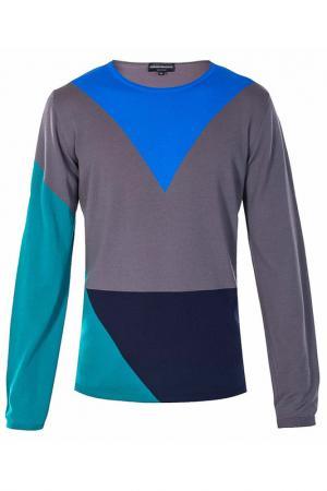 Пуловер Emporio Armani. Цвет: голубой