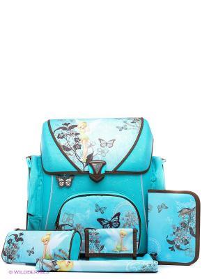 Ранец с наполнением  Fairies Scooli. Цвет: морская волна