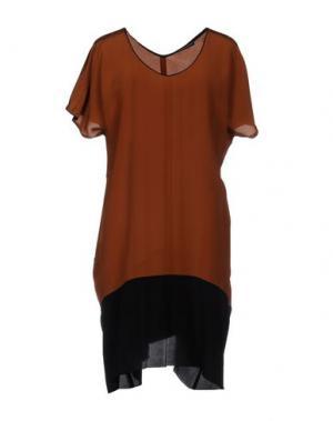 Короткое платье NEW YORK INDUSTRIE. Цвет: коричневый