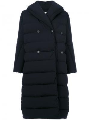 Пуховое пальто Aspesi. Цвет: синий