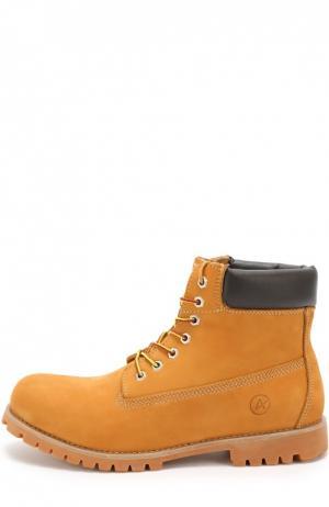 Кожаные ботинки New York на шнуровке Affex. Цвет: бежевый