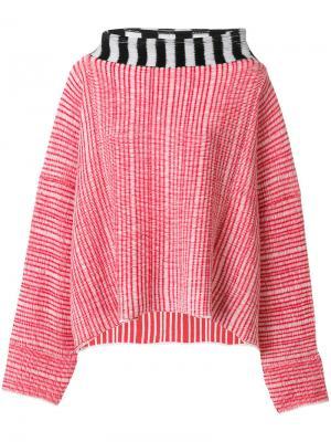 Wide neck jumper Eckhaus Latta. Цвет: красный