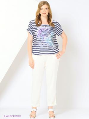 Блузка SVETLANOVA. Цвет: белый, бирюзовый, синий, сиреневый
