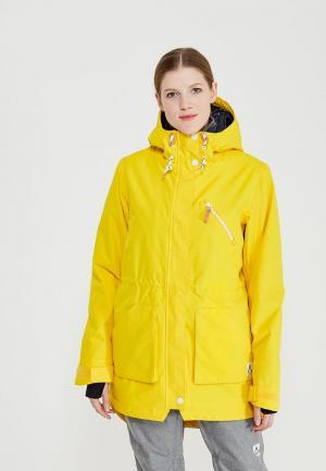 Куртка горнолыжная Wear Colour. Цвет: желтый