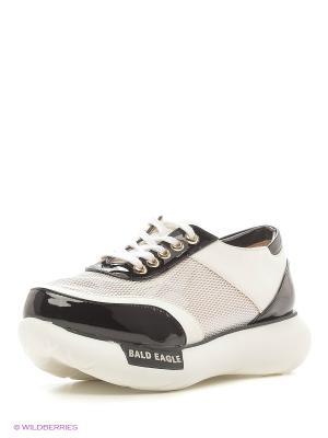 Кроссовки BALD EAGLE. Цвет: черный, белый