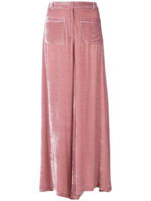 Расклешенные брюки Vivetta. Цвет: розовый и фиолетовый