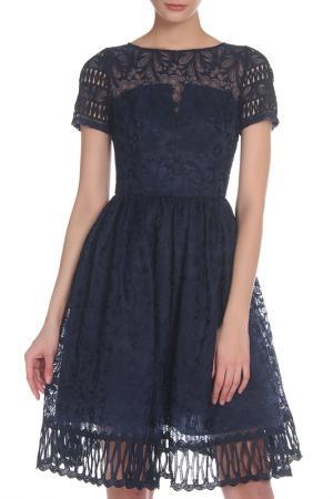 Платье CHI LONDON. Цвет: navy