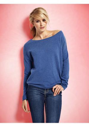 Пуловер PATRIZIA DINI. Цвет: красный, лиловый, мандариновый, светло-коричневый, серо-коричневый, серый меланжевый, синий, цвет белой шерсти, цикламен, черный
