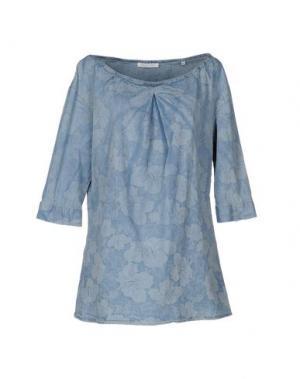 Блузка AGLINI. Цвет: синий