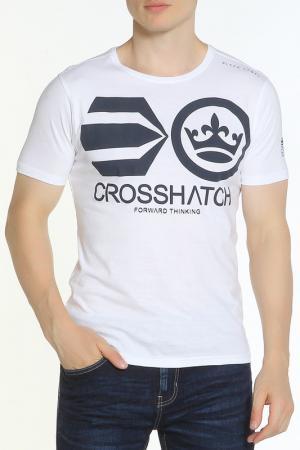 Футболка CROSSHATCH. Цвет: белый