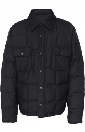Шерстяная утепленная куртка Balenciaga. Цвет: черный
