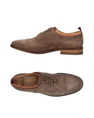 Обувь на шнурках SMITH'S AMERICAN. Цвет: голубиный серый