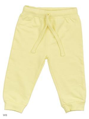 Трикотажные брюки Modis. Цвет: светло-желтый