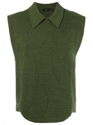 Texturized knit blouse Gig. Цвет: зелёный