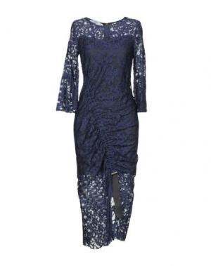 Платье длиной 3/4 TENAX. Цвет: темно-синий
