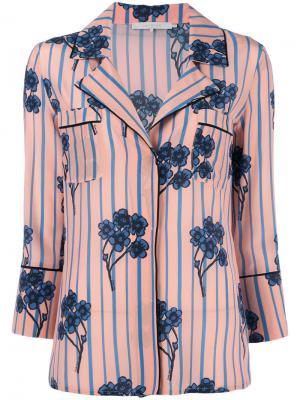 Полосатая рубашка с цветочным рисунком LAutre Chose L'Autre. Цвет: многоцветный