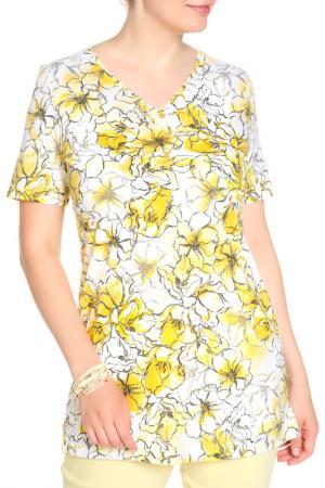 Блуза HELENA VERA. Цвет: нежно-желтый