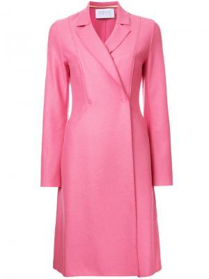 Расклешенное пальто Harris Wharf London. Цвет: розовый и фиолетовый