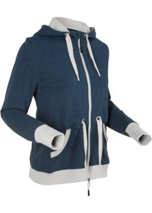 Свитшот с длинным рукавом (темно-синий меланж) bonprix. Цвет: темно-синий меланж