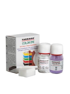 Краситель+очиститель  для гладкой кожи TDC05 COLOR DYE, стекло, 2 х 25мл. (055 сиреневый) Tarrago. Цвет: сиреневый