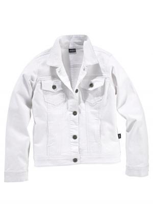 Джинсовая куртка Arizona. Цвет: белый