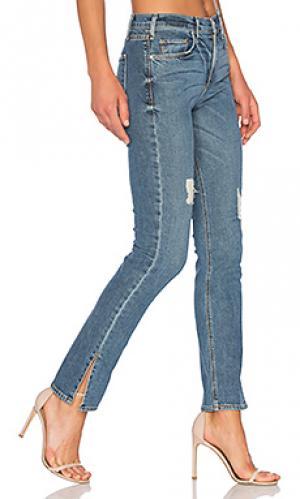 Прямые джинсы с разрезами внизу valetta MCGUIRE. Цвет: none