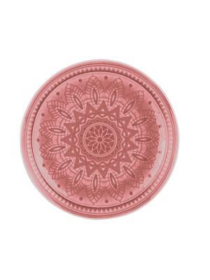 Набор тарелок десертных  6 шт TONGO. Цвет: бледно-розовый