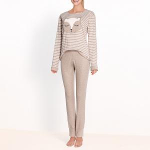Пижама Ecureuil DODO. Цвет: серо-коричневый меланж