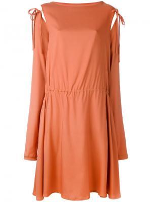Платье с завязками на рукавах Société Anonyme. Цвет: жёлтый и оранжевый