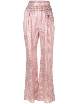 Строгие брюки с завышенной талией Christopher Kane. Цвет: розовый и фиолетовый