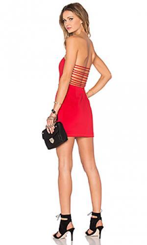 Платье im back NBD. Цвет: красный