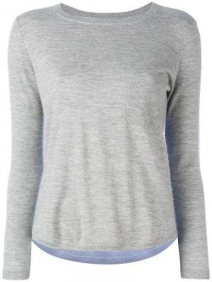 Cashmere colour-block top Chinti And Parker. Цвет: серый