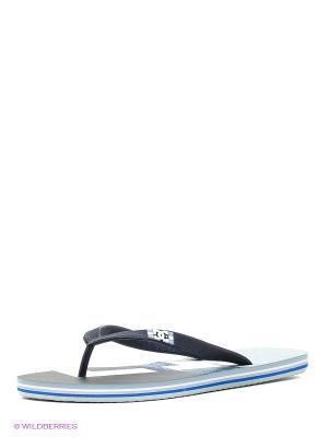 Шлепанцы DC Shoes. Цвет: синий, антрацитовый, серый