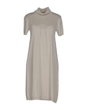 Короткое платье LIST. Цвет: светло-серый