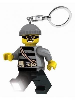 Брелок-фонарик для ключей Lego City - Mastermind. Цвет: черный, серый, желтый