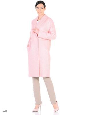 Пальто YULIA'SWAY. Цвет: бледно-розовый