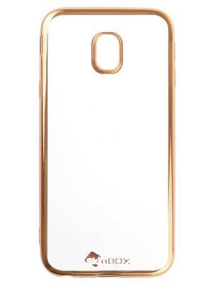 Samsung Galaxy J3 (2017) skinBOX silicone chrome border 4People. Цвет: золотистый
