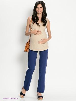 Брюки для беременных 40 недель. Цвет: темно-синий